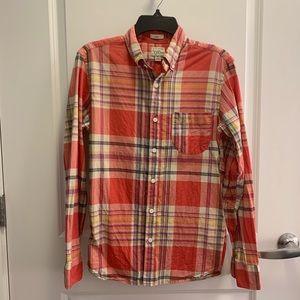 Jcrew men's slim fit button down shirt size small